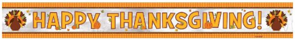Thanksgiving Foil Banner, 9ft