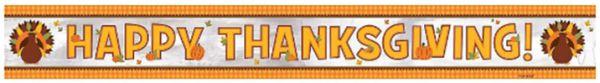 Thanksgiving Foil Banner, 9ft