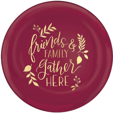 """Friends & Family Plastic Coupe Plates, 7 1/2"""" - 4ct"""