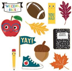 Back To School Paper Cutouts, 12ct