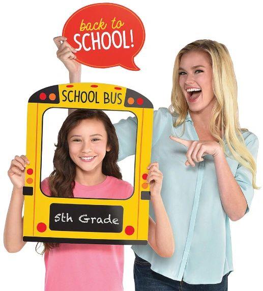 School Bus Jumbo Photo Prop