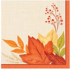 Fall Foliage Beverage Napkins, 16ct