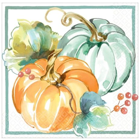 Muted Autumn Luncheon Napkins, 16ct