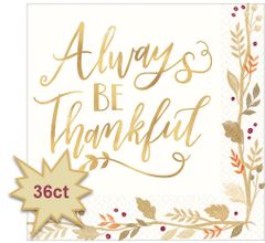Always Be Thankful Luncheon Napkins, 36ct