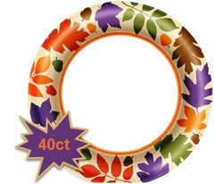 "Autumn Warmth Value Plates, 7"" - 40ct"