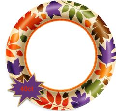 "Autumn Warmth Value Plates, 10"" - 40ct"