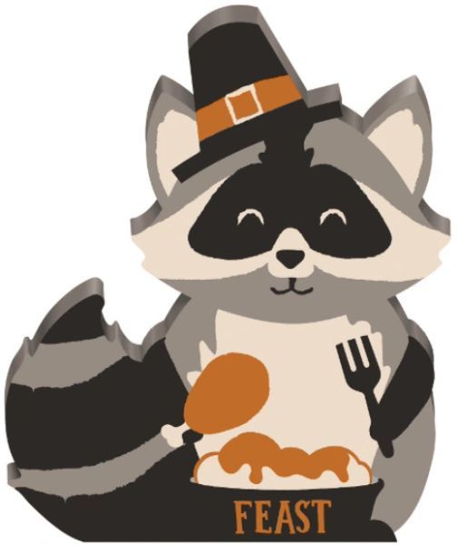 Mini Standing Racoon Sign