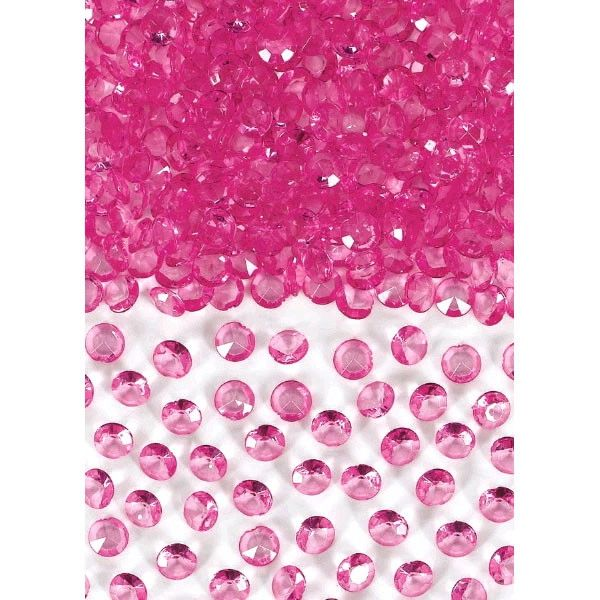 Mini Bright Pink Gem Table Scatter