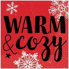 Warm and Cozy Beverage Napkins, 16ct