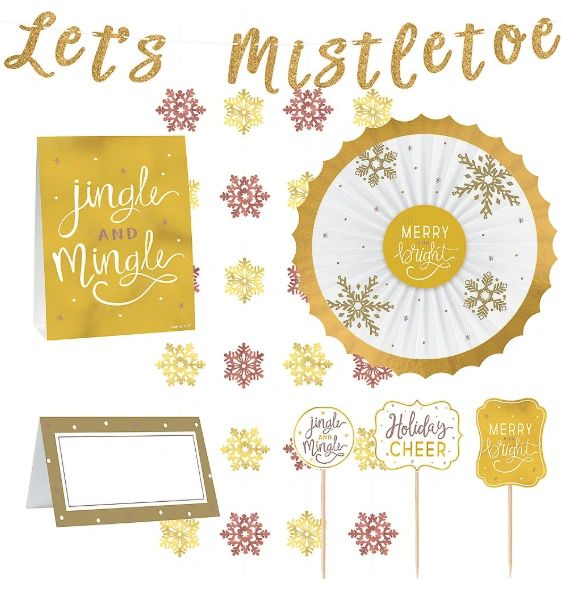 Let's Mistletoe Deluxe Buffet Decorating Kit, 23pc