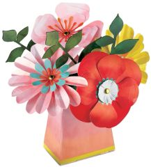 Bright Florals Paper Flower Centerpiece