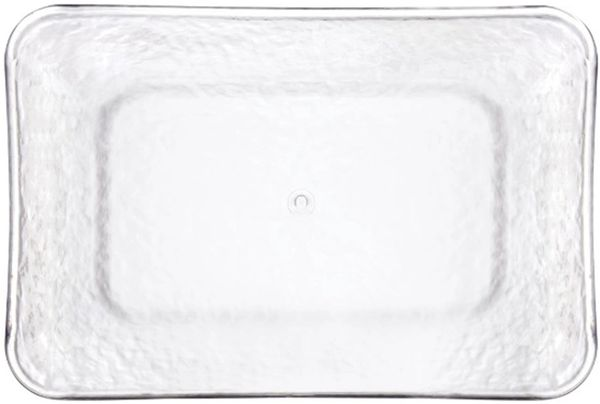 Hammered Clear Rectangular Tray