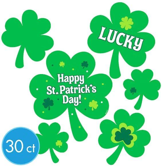 St. Patrick's Day Printed Paper Mega Value Pack Cutouts, 30ct
