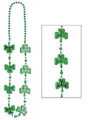 Electroplated Shamrock Bead Necklace