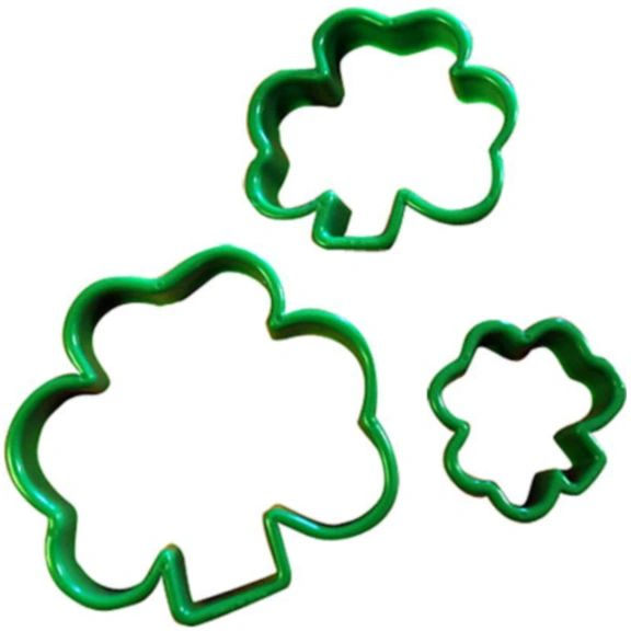 Shamrock Plastic Cookie Cutters, 3ct