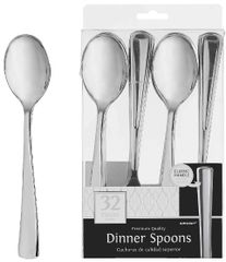 Dinner Spoons - Silver, 32ct