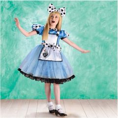 Curious Alice - Girl Toddler (3-4), Girl Small (4-6), Girl Medium (8-10), Girl Large (12-14)