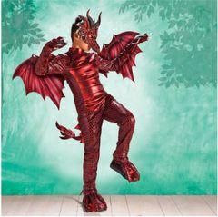 Fire Dragon - Boy Small (4-6), Boy Medium (8-10), Boy Large (12-14)