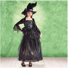 Abracadabra Witch - Girl Small (4-6), Girl Medium (8-10), Girl Large (12-14)