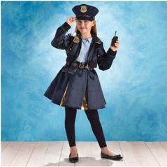 Cop Cutie-Pie - Girl Toddler (3-4), Girl Small (4-6), Girl Medium (8-10), Girl Large (12-14)
