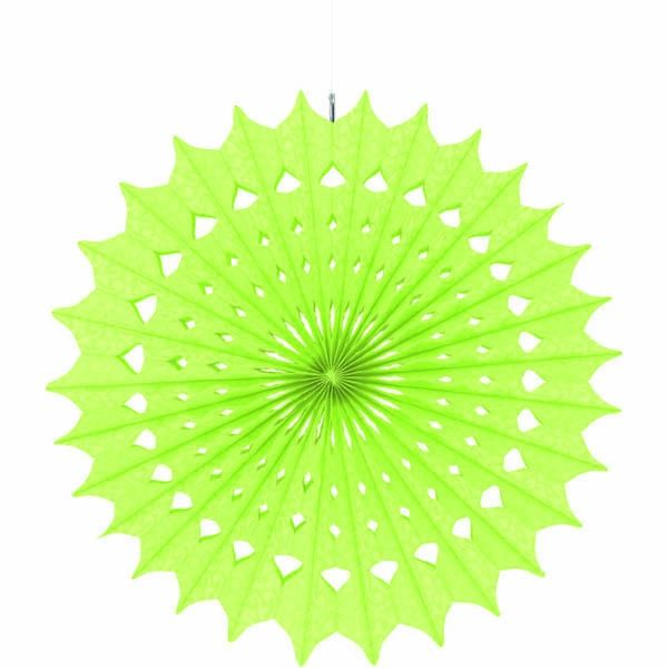 Honeydew Damask Fan Decorations, 16""