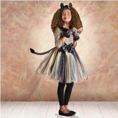 Leopard Kitty - Girl Toddler (3-4), Girl Small (4-6), Girl Medium (8-10), Girl Large (12-14)
