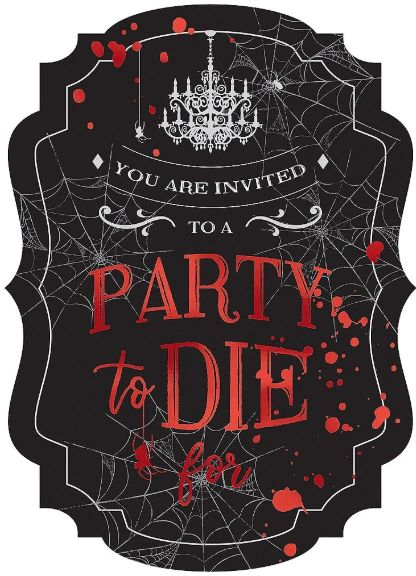 Dark Manor Jumbo Deluxe Invitations, 8ct