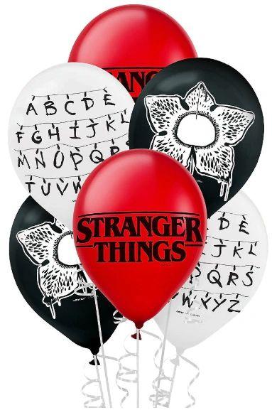 Stranger Things Printed Latex Balloons, 6ct