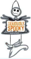 ©Disney Tim Burton's Nightmare Before Christmas Seriously Spooky Tiered Hanging Sign