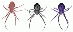 3-D Spider Glow-In-The-Dark Foil Hanging Decoration, 3ct