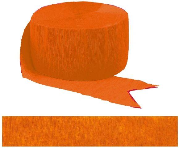 Orange Peel Solid Crepe Streamer, 81ft