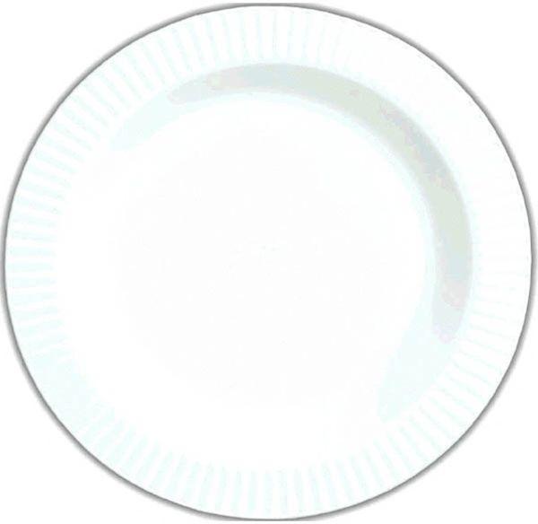 """White Premium Plastic Round Dinner Plates, 10 1/4"""" - 16ct"""