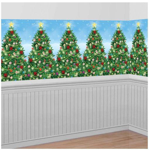 Evergreen Christmas Scene Setters Plastic Room Roll