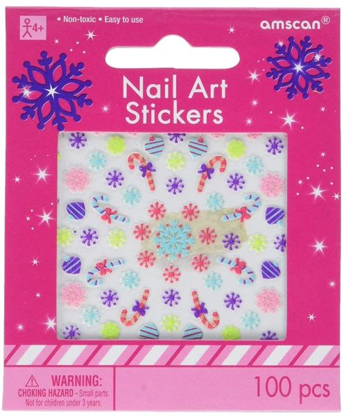 Christmas Nail Art Sticker, 100ct