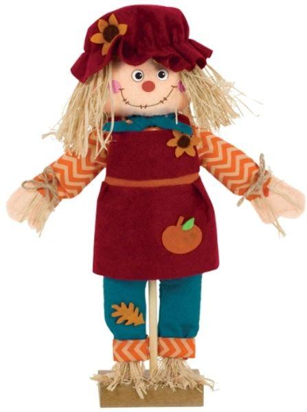 Mini Standing Scarecrow Girl Prop
