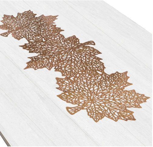 Vinyl Leaf Table Runner
