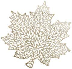 Vinyl Leaf Placemat - Gold