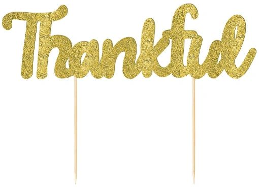 Thankful Glitter Pie Pick
