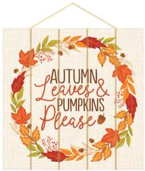 Autumn Leaves Wall Sign