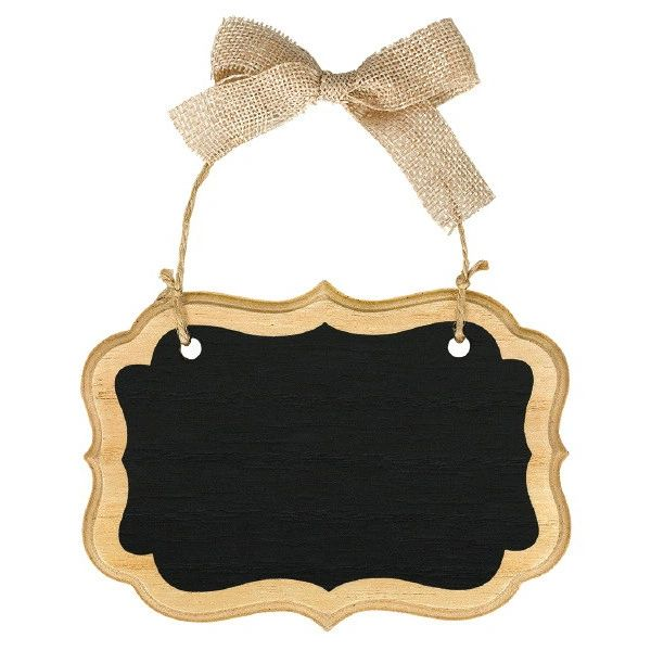 Small Wood Border Scroll Chalkboard Sign