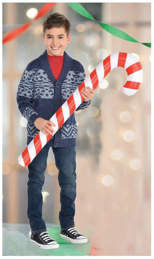 Inflatable Candy Cane Photo Prop