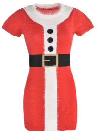 Santa Sweater Dress Adult S/M, L/XL