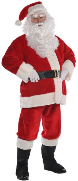 "Plush Santa Suit - Adult Standard, XL (50"" chest), XXL (54"" chest), XXX-Large (58""chest)"
