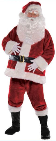 "Regal Santa Suit - Standard, X-Large (50"" chest), XX-Large (54"" chest), XXX-Large (58""chest)"