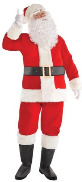 "Velvet Santa Suit Standard, X-Large (50""chest), XX-Large (54""chest)"