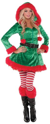 Green Sassy Elf - Small (2-4), Medium (6-8), Large (10-12), Plus (18-20)