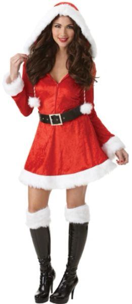 Sassy Santa - Small (2-4), Medium (6-8), Large (10-12), Plus (18-20)