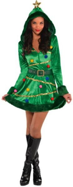 Christmas Tree Dress Costume - Small (2-4), Medium (6-8), Large (10-12)