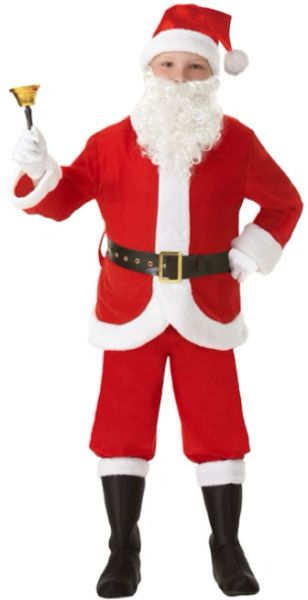 Santa Suit - Boy Small (4-6), Medium (8-10), Large (12-14)