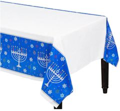 Eight Happy Nights Plastic Table Cover